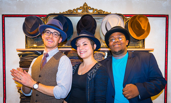 Hats on at Salmagundi with (L-R) owner Jessen, Lisa and Ritchy