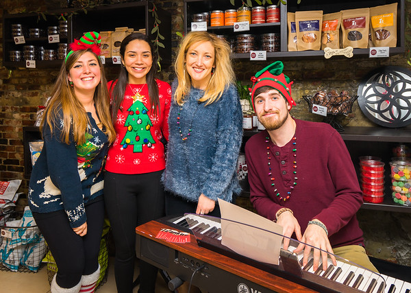 Musical fun at Cocoanuts with (L-R) Natalie, Dialis, Owner Tara Shea and Matt on keyboards