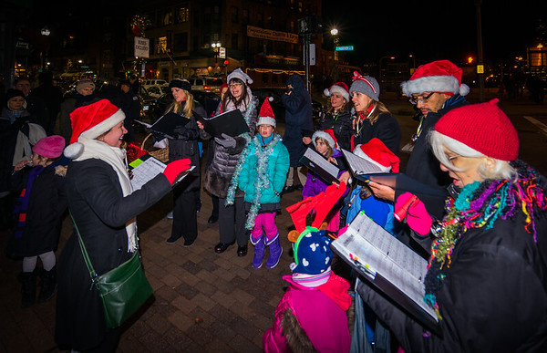 NEMPAC Christmas Carolers on Cross Street