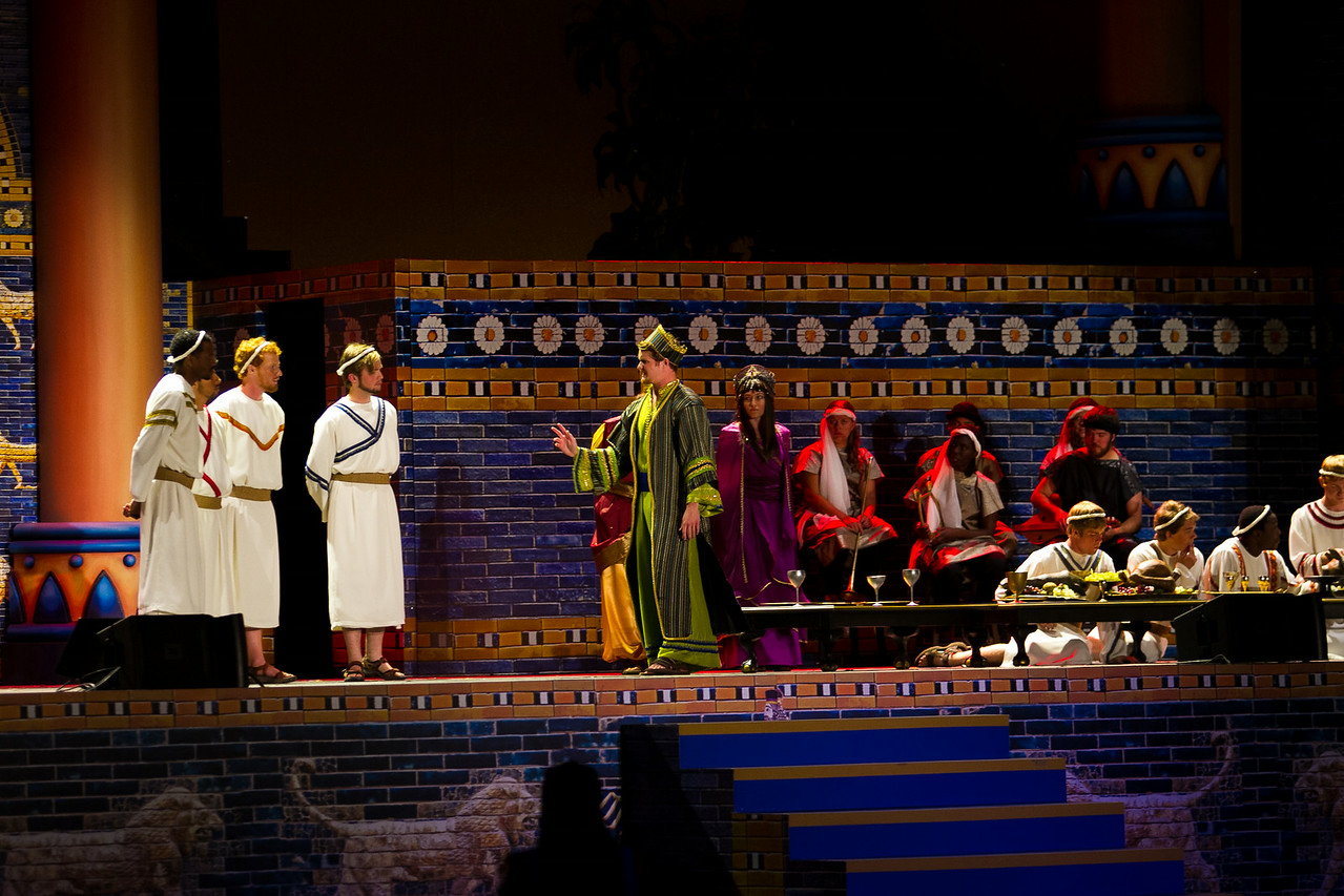 Actors performing on the first night of production FFIC
