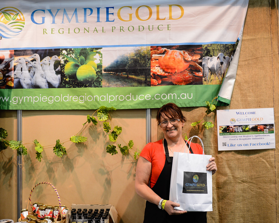 """Gympie Gold Regional Produce - 2014 Good Food & Wine Show, Brisbane Convention & Exhibition Centre, 17-19 October. Photos by Des Thureson - <a href=""""http://disci.smugmug.com"""">http://disci.smugmug.com</a>."""