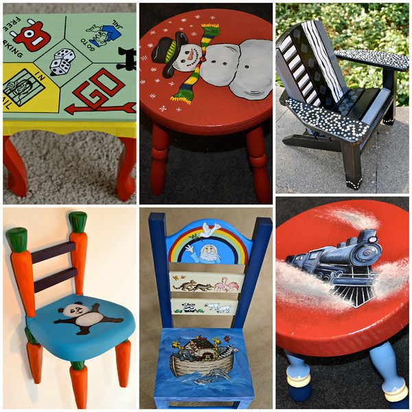 001-Painted Furniture Collage