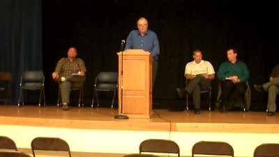 "Part 16 of 19: School board candidates question #4: ""If elected, how will this community remember your term as a school board member?"" Respondents are (in order) Bob Merchant, Tom Schreiner [video cut out; continued on next video]"