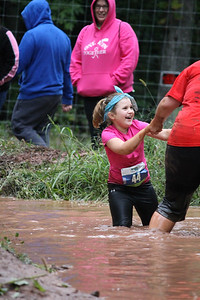 Stella Greenwald gets caught in the mud pit and her mother, Carly Greenwald comes to the rescue.