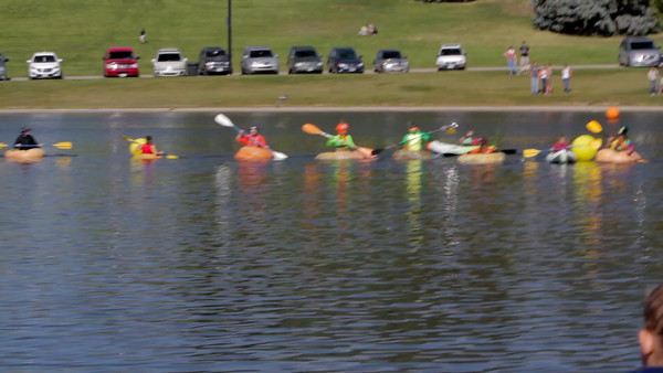 If you've never seen a pumpkin regatta, this is for you.