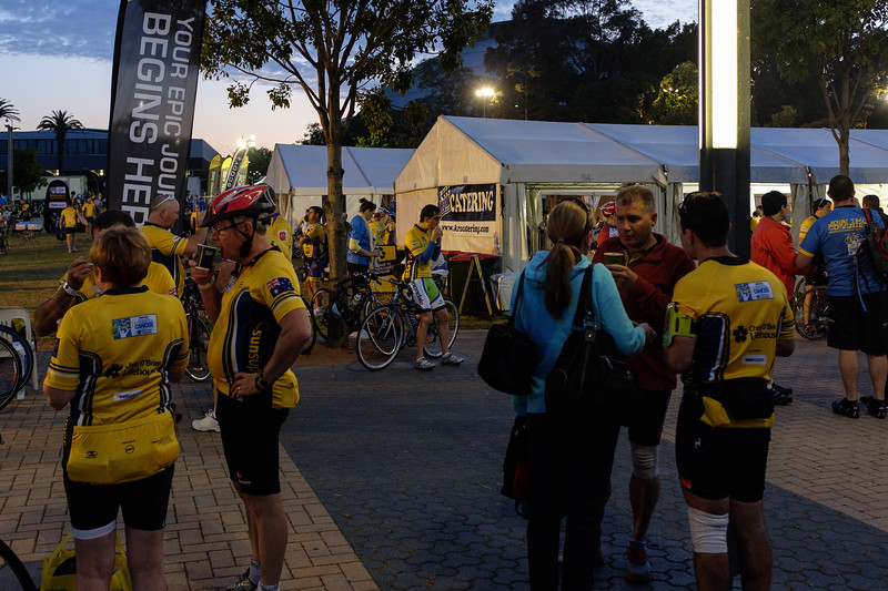 Something to eat and drink before the start.  Cathy Freeman Park in the Sydney Olympic Park.