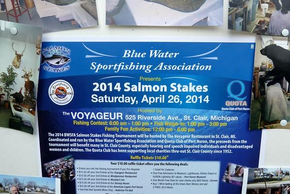 2014 Salmon Stakes Tournament, The Voyageur Restaurant, St. Clair, MI