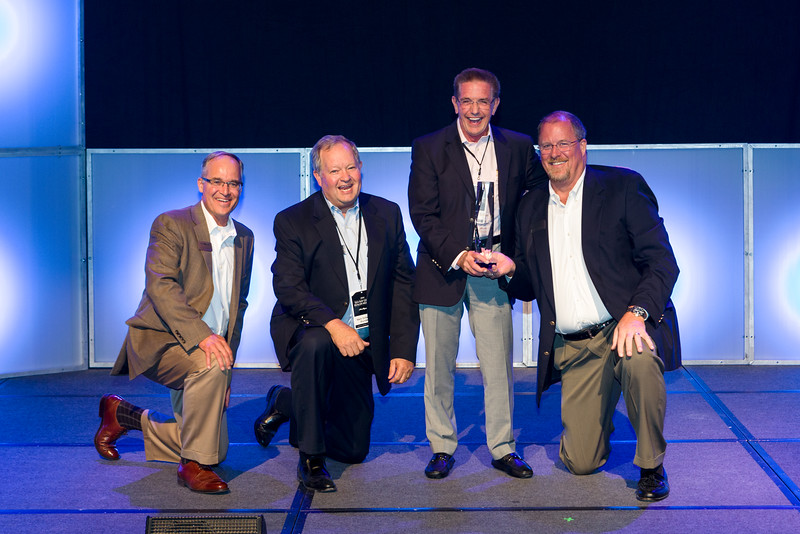 C.N. Ray Award - Tim Schiek, Mark Schwaboro, Bill McGill, Dave O'Connell (L to R)