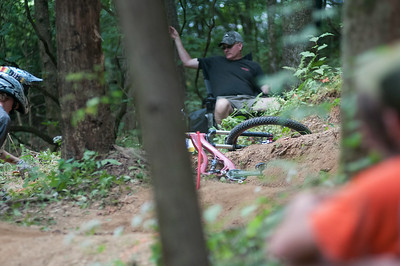 Steep, fast, and very dry conditions give rise to a lot of crashes through out the day.