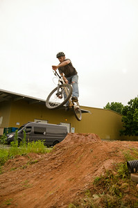 Riding silent on the new addition of the pump track.