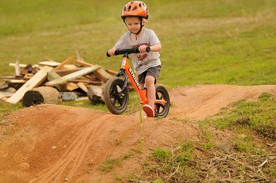 Riders of all sizes took on the pump track.