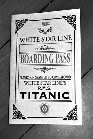 2014 Tribute to the TITANIC (In Black & White) Fundraiser held by The Rotary Club of Mount Clemens, MI