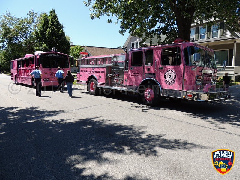 The Pink Heals National Tour made stops in Sheboygan and Sheboygan Falls on Thursday, July 24, 2014. Photo by Asher Heimermann/Incident Response.