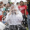 Student Government President,  Biruk Kassar participates in the Ice Bucket Challenge to help fund the fight against ALS at The University of North Carolina at Pembroke on Monday, August 25th, 2014.<br /> Ice_Bucket_Challenge_0097.JPG