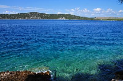 Dalmatia's coast between Šibenik and Trogir