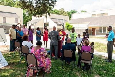 Charlotte Housing Authority & Urban League of Central Carolinas Basketbal Courtl Ribbon Cutting @ Sunridge Apartments 5-29-14