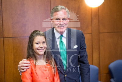 Senator Richard Burr presents Cailee Calabrese with honors for achieving her 3rd Level Gold President's Volunteer Award at the University of North Carolina at Pembroke on Friday, August 14th, 2014. Cailee_Calabrese_0074.CR2