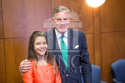 Senator Richard Burr presents Cailee Calabrese with honors for achieving her 3rd Level Gold President's Volunteer Award at the University of North Carolina at Pembroke on Friday, August 14th, 2014. Cailee_Calabrese_0072.CR2