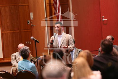 The University of North Carolina at Pembroke holds a Campus Conversation on Monday, April 28th, 2014. campus_conversation_0066.JPG