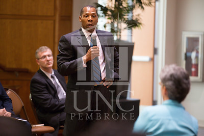 The University of North Carolina at Pembroke holds a Campus Conversation on Monday, April 28th, 2014. campus_conversation_0061.CR2