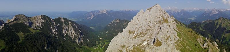 Climbing in the Tannheimer Berge (Allgäu)