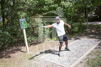 The University of North Carolina at Pembroke hosts the launch of the Disc Golf Course on Thursday, August 21st, 2014. Disc_Golf_Launch_0007.JPG