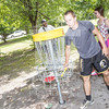 The University of North Carolina at Pembroke hosts the launch of the Disc Golf Course on Thursday, August 21st, 2014.<br /> Disc_Golf_Launch_0031.JPG