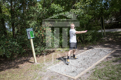 The University of North Carolina at Pembroke hosts the launch of the Disc Golf Course on Thursday, August 21st, 2014. Disc_Golf_Launch_0011.JPG