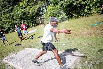 The University of North Carolina at Pembroke hosts the launch of the Disc Golf Course on Thursday, August 21st, 2014. Disc_Golf_Launch_0024.JPG