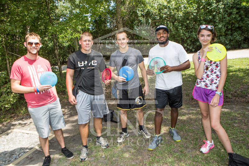 The University of North Carolina at Pembroke hosts the launch of the Disc Golf Course on Thursday, August 21st, 2014.<br /> Disc_Golf_Launch_0001.JPG