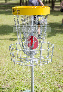 The University of North Carolina at Pembroke hosts the launch of the Disc Golf Course on Thursday, August 21st, 2014. Disc_Golf_Launch_0022.JPG