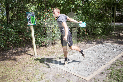 The University of North Carolina at Pembroke hosts the launch of the Disc Golf Course on Thursday, August 21st, 2014. Disc_Golf_Launch_0005.JPG