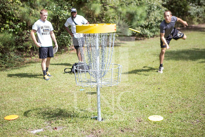 The University of North Carolina at Pembroke hosts the launch of the Disc Golf Course on Thursday, August 21st, 2014. Disc_Golf_Launch_0021.JPG