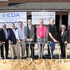 Entrepreneurship_Incubator_Groundbreaking_0007.JPG_ The University of North Carolina at Pembroke celebrates with the  U.S. Economic Development Administration and the Golden LEAF Foundation at the groundbreaking for the new Entrepreneurship Incubator in Downtown Pembroke on Friday, October 24th, 2014.