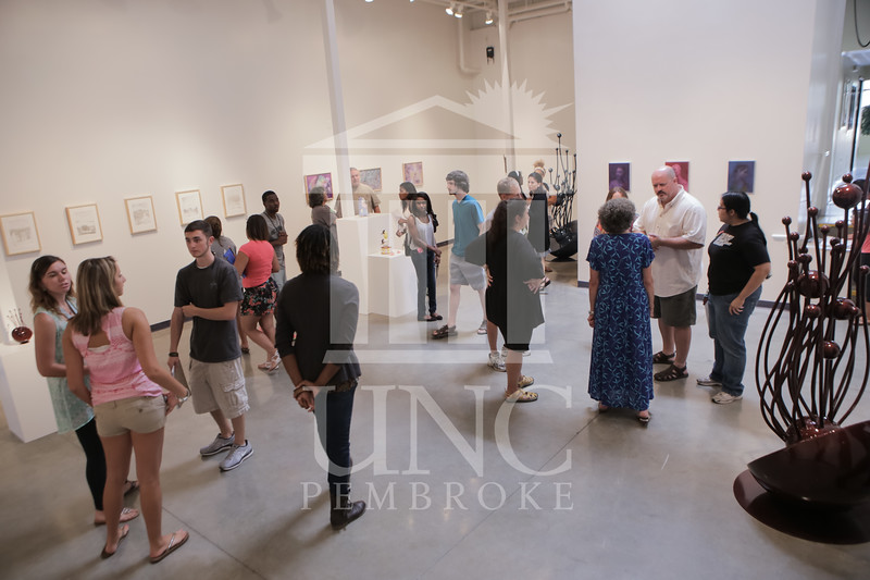 The University of North Carolina at Pembroke hosts the Faculty Art Exhibit on Wednesday, September 3rd, 2014. Faculty_Art_Exhibit_0004.JPG