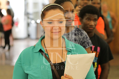 The University of North Carolina at Pembroke holds Freshman Orientation in July 2014. Freshman_Orientation_0584.JPG