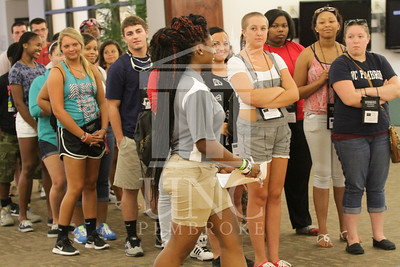 The University of North Carolina at Pembroke holds Freshman Orientation in July 2014. Freshman_Orientation_0580.JPG