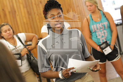 The University of North Carolina at Pembroke holds Freshman Orientation in July 2014. Freshman_Orientation_0561.JPG