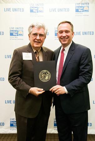 Governor's Volunteer Service Awards @ United Way of the Central Carolinas 4-8-14