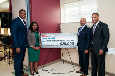 Kenny Smith Coor's Light Donates $25,000 To Urban League of the Central Carolinas 4-2-14
