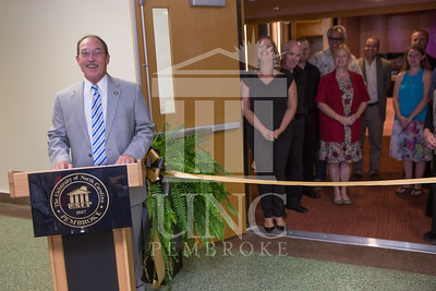 The University of North Carolina at Pembroke holds a Ribbon-Cutting Ceremony for the renovations to the Moore Hall Auditorium on Tuesday, August 26th, 2014. Moore_Hall_Auditorium_Ribbon_0009.JPG