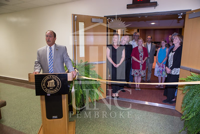 The University of North Carolina at Pembroke holds a Ribbon-Cutting Ceremony for the renovations to the Moore Hall Auditorium on Tuesday, August 26th, 2014. Moore_Hall_Auditorium_Ribbon_0014.JPG