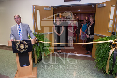 The University of North Carolina at Pembroke holds a Ribbon-Cutting Ceremony for the renovations to the Moore Hall Auditorium on Tuesday, August 26th, 2014. Moore_Hall_Auditorium_Ribbon_0013.JPG