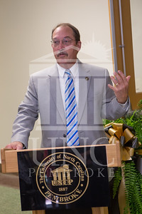 The University of North Carolina at Pembroke holds a Ribbon-Cutting Ceremony for the renovations to the Moore Hall Auditorium on Tuesday, August 26th, 2014. Moore_Hall_Auditorium_Ribbon_0011.JPG