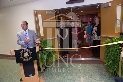 The University of North Carolina at Pembroke holds a Ribbon-Cutting Ceremony for the renovations to the Moore Hall Auditorium on Tuesday, August 26th, 2014. Moore_Hall_Auditorium_Ribbon_0021.JPG