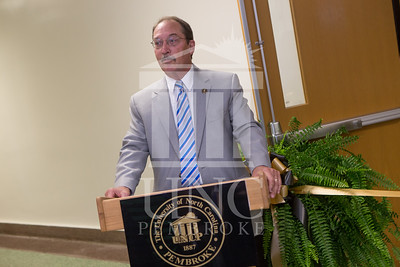 The University of North Carolina at Pembroke holds a Ribbon-Cutting Ceremony for the renovations to the Moore Hall Auditorium on Tuesday, August 26th, 2014. Moore_Hall_Auditorium_Ribbon_0019.JPG