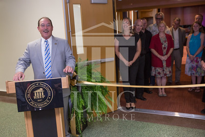 The University of North Carolina at Pembroke holds a Ribbon-Cutting Ceremony for the renovations to the Moore Hall Auditorium on Tuesday, August 26th, 2014. Moore_Hall_Auditorium_Ribbon_0010.JPG