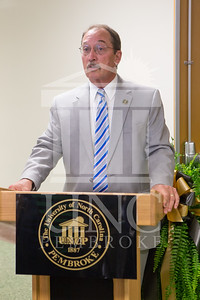 The University of North Carolina at Pembroke holds a Ribbon-Cutting Ceremony for the renovations to the Moore Hall Auditorium on Tuesday, August 26th, 2014. Moore_Hall_Auditorium_Ribbon_0018.JPG