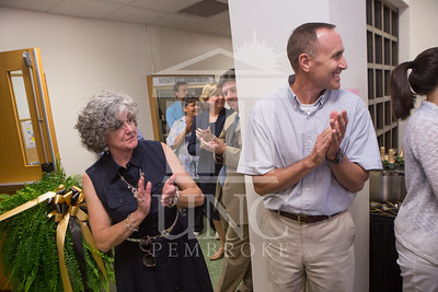 The University of North Carolina at Pembroke holds a Ribbon-Cutting Ceremony for the renovations to the Moore Hall Auditorium on Tuesday, August 26th, 2014. Moore_Hall_Auditorium_Ribbon_0020.JPG