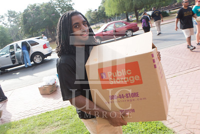 Students move in to their Dorms at the University of North Carolina at Pembroke on Monday, August 18th, 2014. move-in-2014_0012.JPG